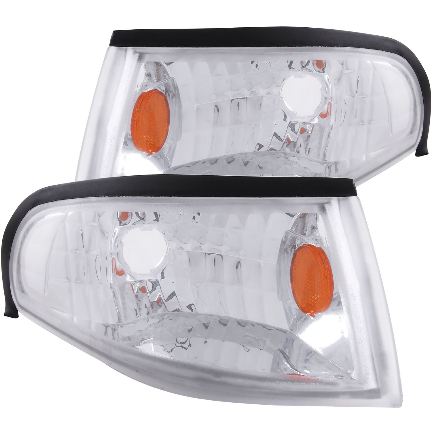 Anzo USA 521016 Ford Mustang Chrome Euro w/Amber Reflector Corner Light Assembly - (Sold in Pairs)