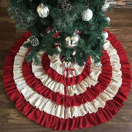 Árbol de Navidad de Pastel de Faldas Falda de arpillera Plegable 6 ...
