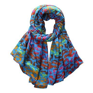 2ce58bc1b0d7 TOPSTORE01 Châle Femme Taches Colorées Foulard Chic Écharpe Fille Étole  (Couleur4)  Amazon.fr  Vêtements et accessoires