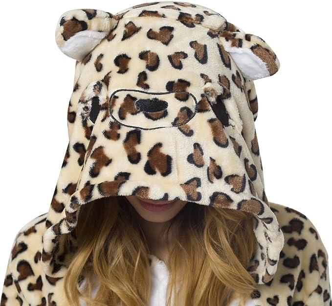 Katara 1744 viele verschiedene Tiere Leopard Kost/üm-Anzug Onesie//Jumpsuit Einteiler Body f/ür Erwachsene Damen Herren als Pyjama oder Schlafanzug Unisex