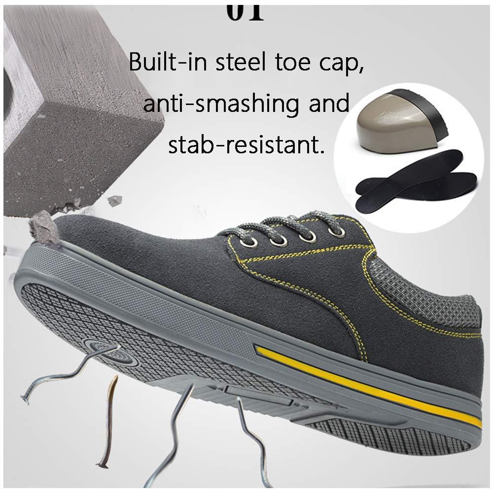 LH Sportsicherheitsschuhe, Sportsicherheitsschuhe, Sportsicherheitsschuhe, Antizermbelung und Antipiercing-Schuhe für die Stahlzehe, Rutschfeste, verschleißfeste Schutzschuhe,39 b5acf5