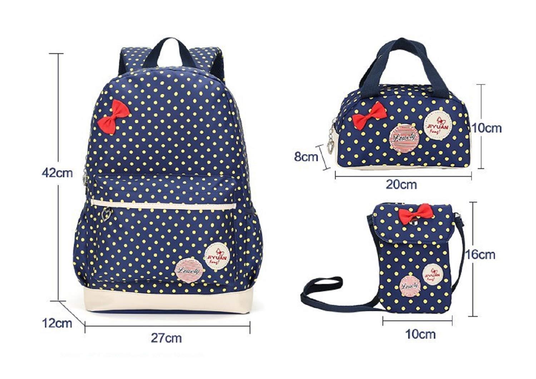 Zhrui Multifunktionale große Kapazität Rucksack Shuulder Bag Mittelschüler Tasche (Farbe   Blau)
