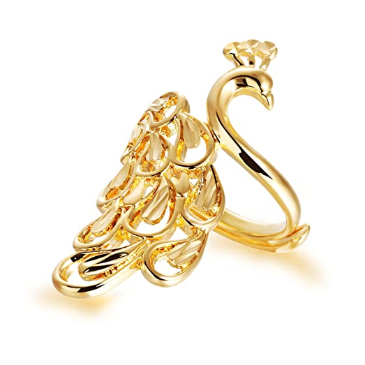 Amazoncom OPK Jewelry Real 18k Gold Plated Women Cute Peacock