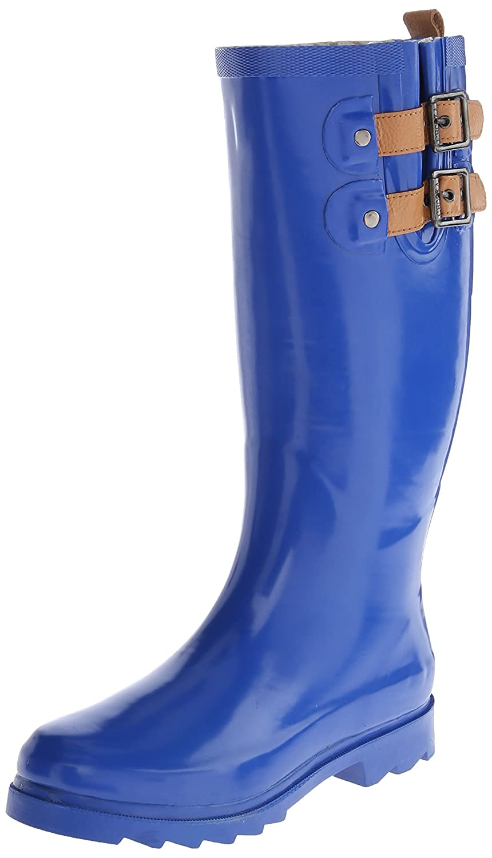 Chooka Women's Top Solid Rain Boot, Cobalt, 5 M US