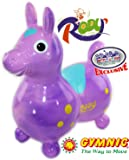 "Gymnic Rody Horse Inflatable Bounce & Ride, ""Matty's Toy Stop"" Exclusive Purple & Pink Swirl (70254)"