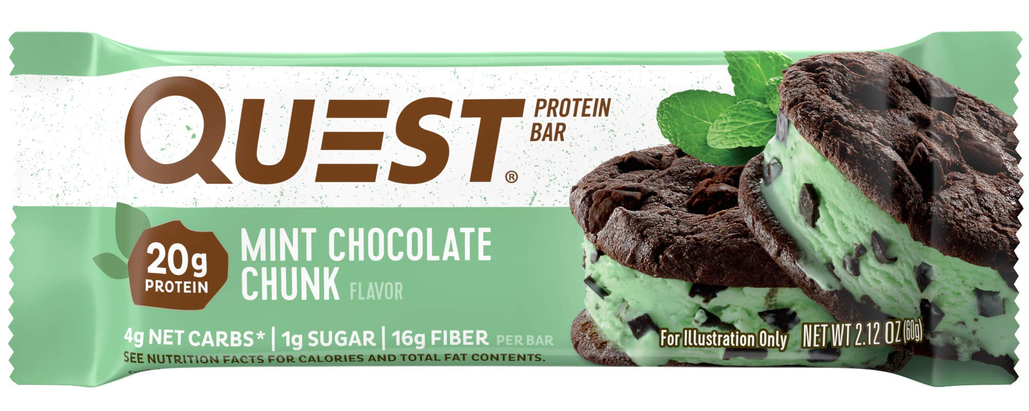 9dabe0719d73 Amazon.com  Quest Nutrition Mint Chocolate Chunk Protein Bar