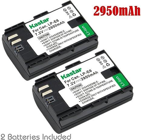 Kastar Cargador y batería para Canon LP-E6, LP-E6 N y Canon EOS ...