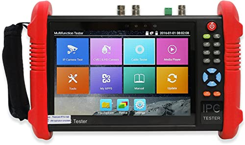 Wsdcam 7 Inch IPS Touch Screen IP Camera Tester Security CCTV Tester CVBS Monitor Analog Tester