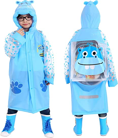 5 Colours Ages 3-7yrs Girls Waterproof Funny Rain Coat Boys