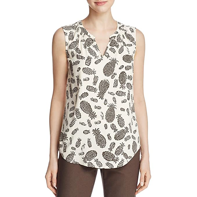 NIC+ZOE Womens Pineapple Pop Sleeveless Blouse Beige M at Amazon ...