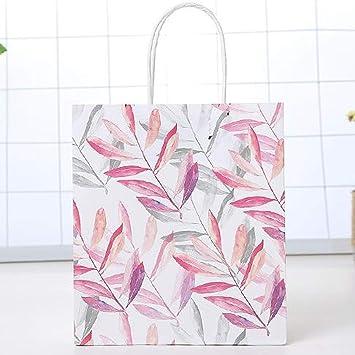 Amazon.com: Bolsa de regalo con asa, diseño de hojas de ...