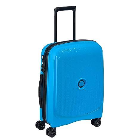 80db1a163 DELSEY Paris Belmont Plus Maleta, 55 cm, 33 litros, Azul Metalico ...