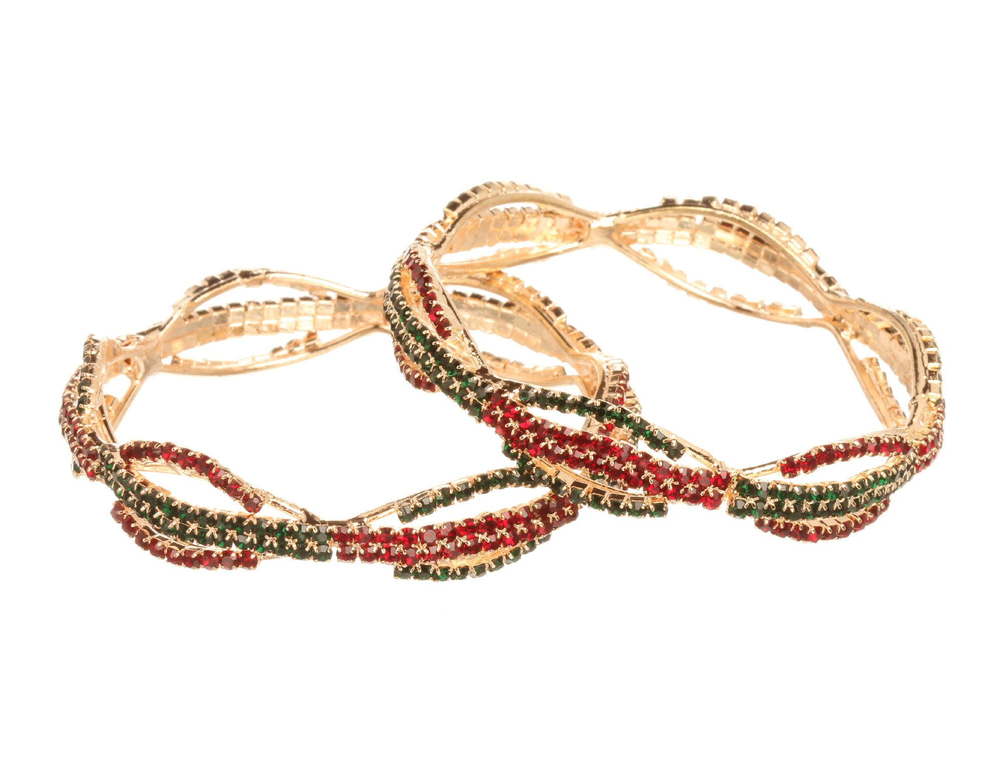 Bindhani Indian Traditional Bridal Wedding Bollywood Bracelets Bangle Set Jewelry for Women (2.8)