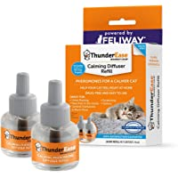 ThunderEase Cat Calming Pheromone Diffuser Refill | Powered by FELIWAY | Reduce Scratching, Urine Spraying, Marking, and Anxiety (60 Day Supply)