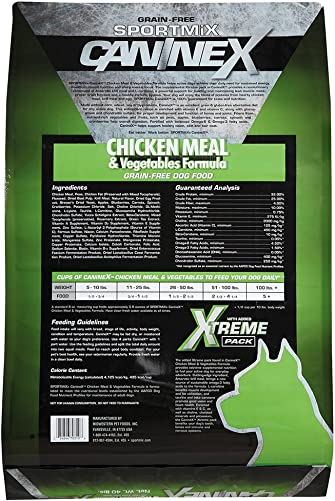 Sportmix Caninex Chicken Meal And Vegetables Grain Free Dry Dog Food