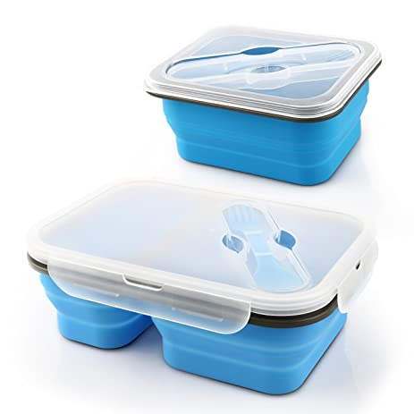 Amazoncom Miusco Collapsible Food Container Lunch Box 2 Pieces Set