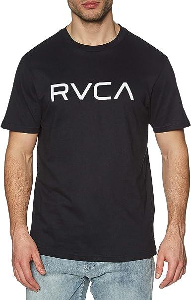 RVCA - Camiseta de manga corta, color negro Negro Negro (XL: Amazon.es: Ropa y accesorios