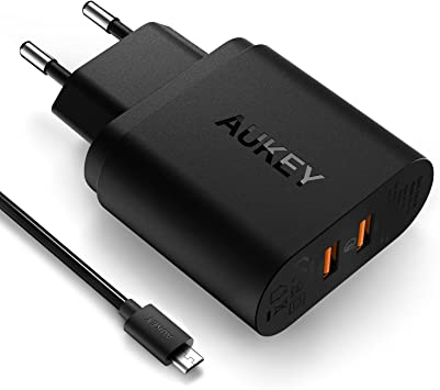 Aukey PA-T16 - Cargador USB, Dual Puerto para Smartphone ...
