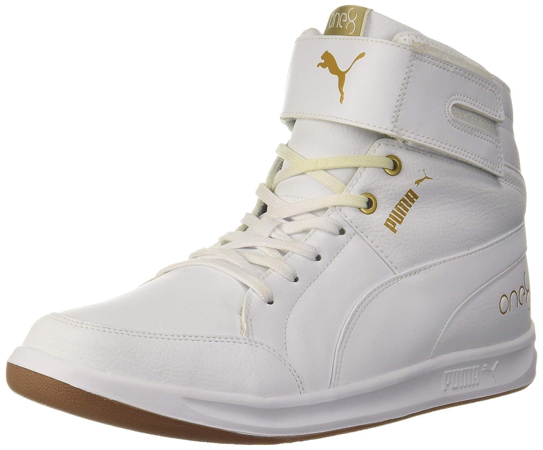 One8 Prime Mid White Team Gold Sneaker