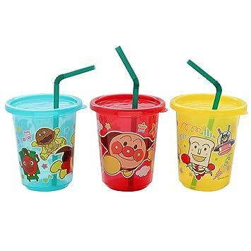 レック アンパンマン ストローカップ 3個入 3色別柄