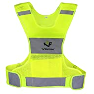 Reflective Vest for Running or Cycling (Women and Men, with Pocket, Gear for Jogging, Biking, Motorcycle, Walking)