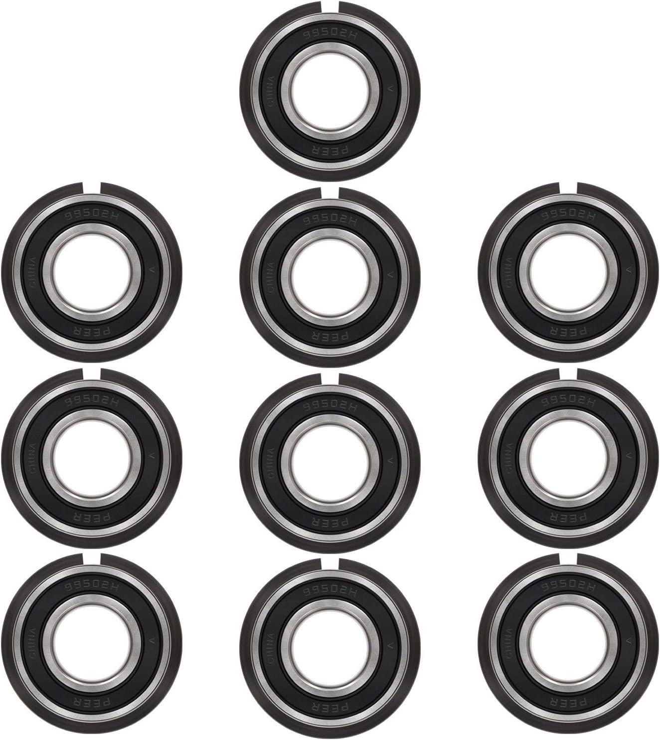 Double Seal 1//2 x 1-1//8 x 1//2 inch Deep Groove Ball Bearings Bonbo 4 Pcs Ball Bearings Wheelbarrows for Lawn Mower Carts and Hand Trucks Wheel Hub