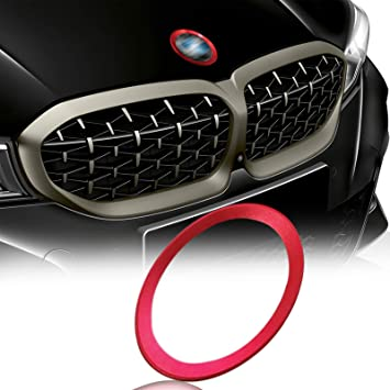 Xotic Tech 1 x Car Front Hood Rear Trunk Logo Emblem Surrounding Ring for BMW 1 3 5 6 7 Z X Series Auto Exterior Decoration Blue 82mm// 3.2