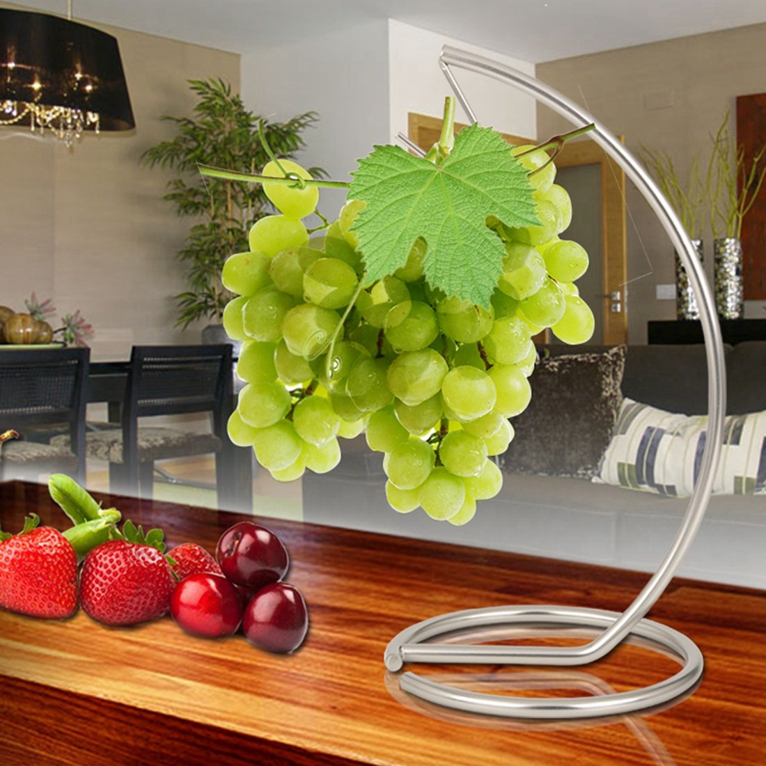 Linear Stainless Steel Metal Hook Holder Banana grape Fruit Hook FAREN