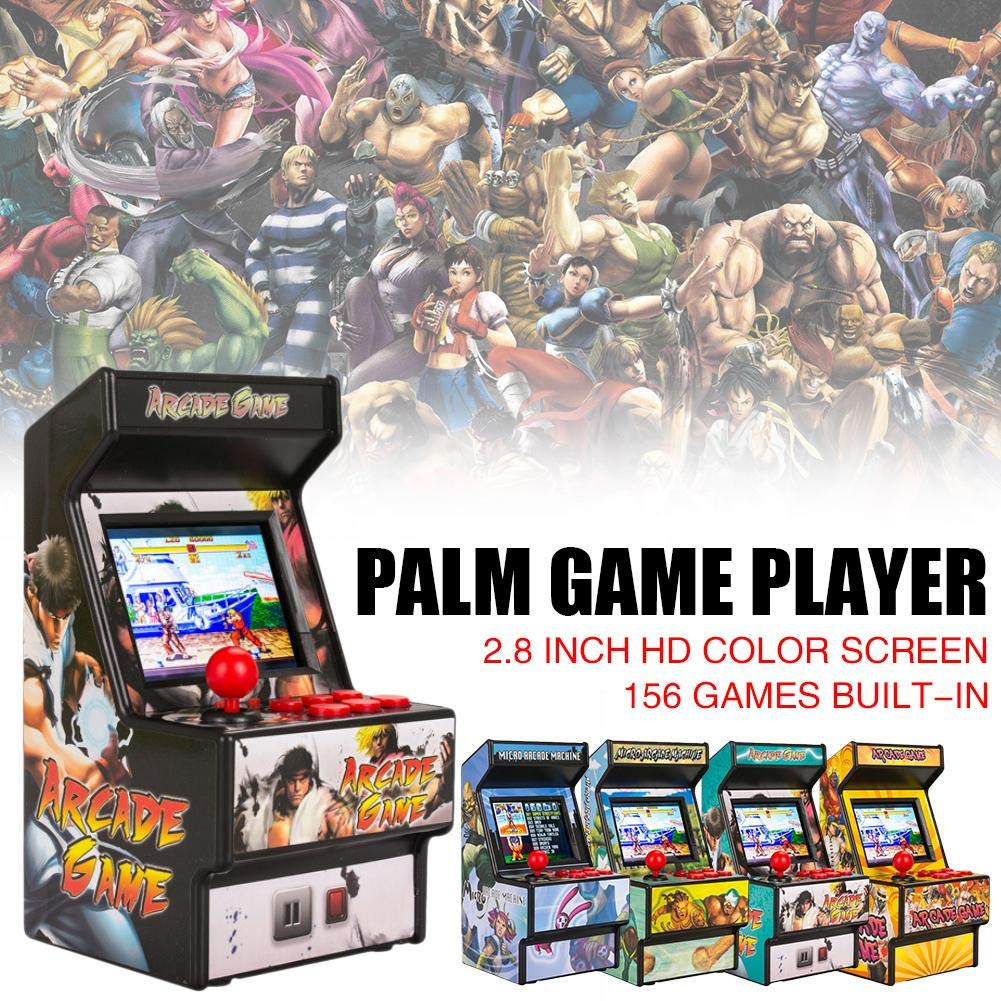 Yunn 2.5' TFT Mini Handheld Arcade Game Retro Machines for Kids with 156 Built-in Games,16 Bit Console New Street Fighter Home Arcade by Yunn (Image #6)
