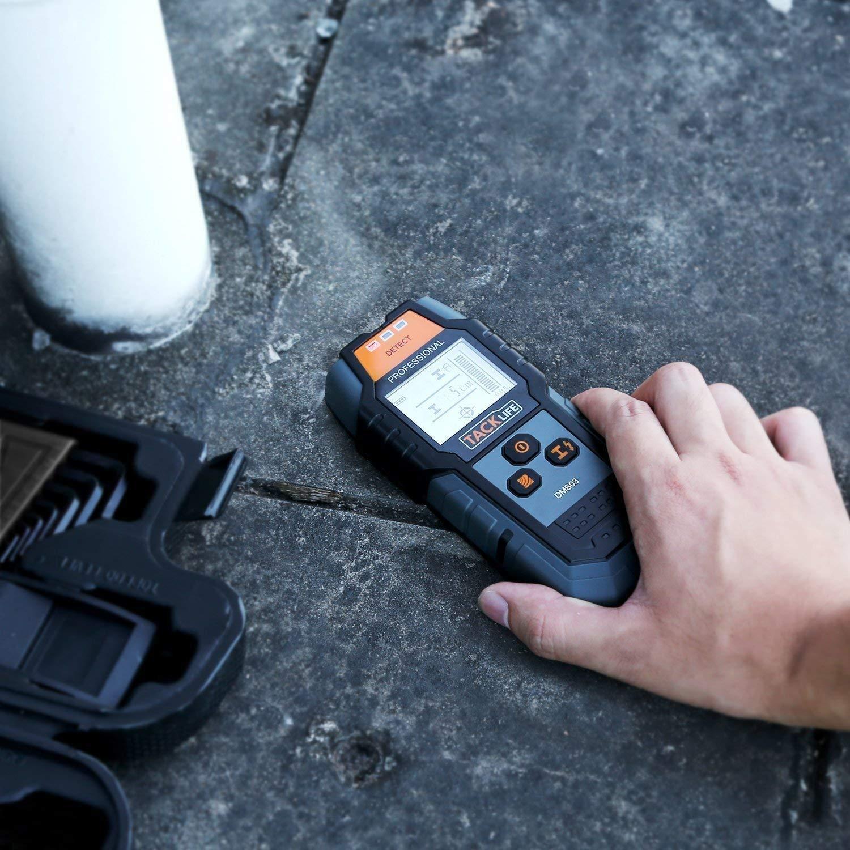 Dispositivo de localización tacklife dms03 Detector de metales pared Scanner Detector Stud Finder línea Visor para cables de corriente Madera Metal con gran ...