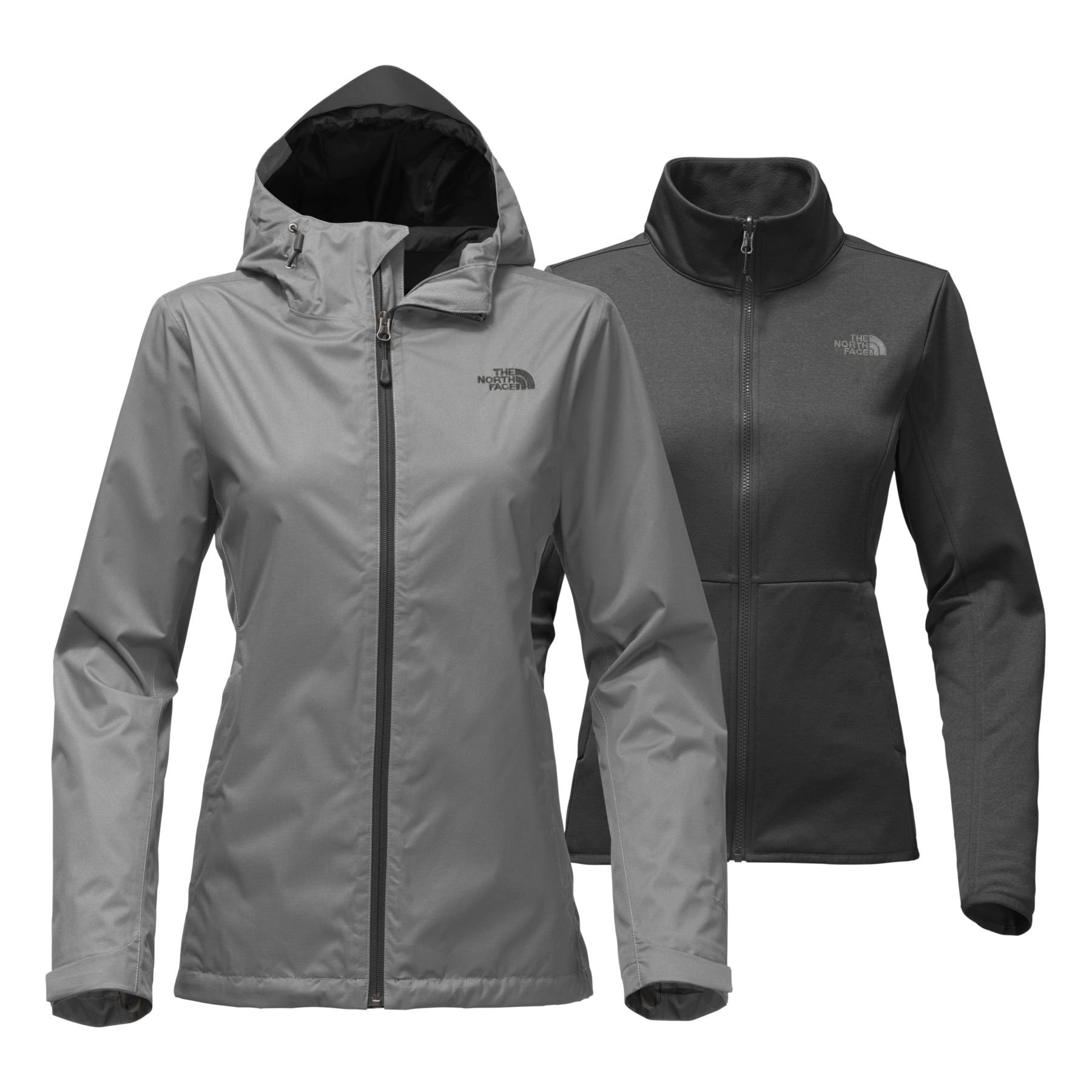 The North Face Womens Arrowood Triclimate Jacket Mid Grey Dobby - XS by The North Face