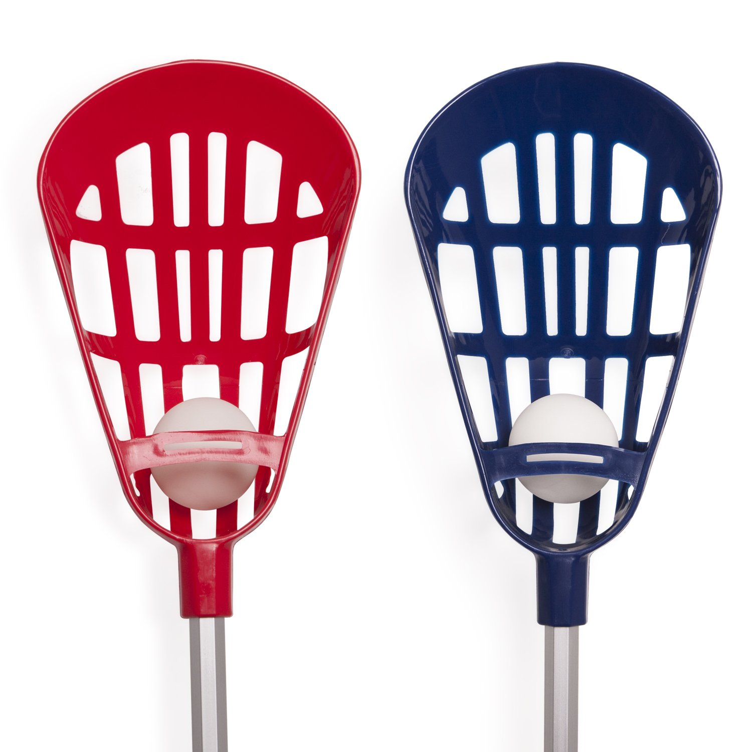 Champion Sports Soft Lacrosse Set: Training Equipment for Boys, Girls, Kids, Youth and Amateur Athletes - 12 Aluminum Sticks and 6 Vinyl Balls for Indoor Outdoor Use by Champion Sports (Image #2)