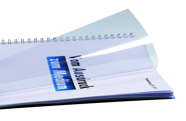 Abdeckklarsichtfolie PP Polypropylen transparent matt Deckblatt DIN A3 0,50