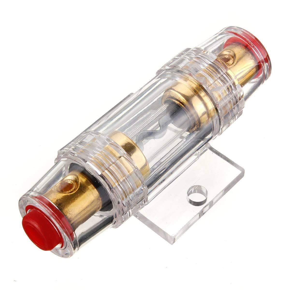 TOOGOO Soporte de fusibles Estereo de 8 galgas AGU del Coche y Cable de Fusibles de Audio DE 60 amperios 070231