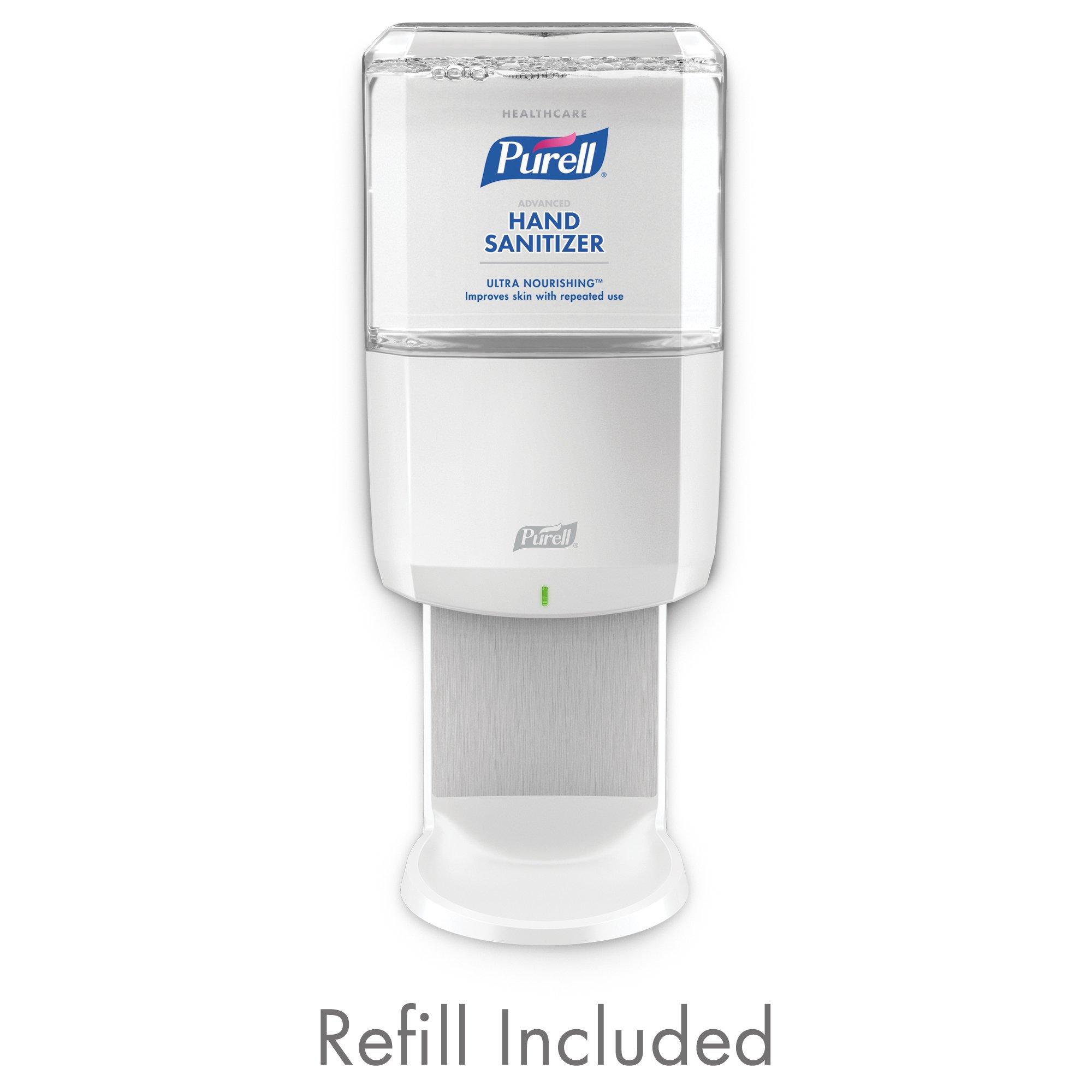PURELL Healthcare Advanced Hand Sanitizer ULTRA NOURISHING Foam ES6 Starter Kit, 1 - 1200 mL EcoLogo Certified Sanitizer Refill + 1 - PURELL ES6 White Touch-Free Dispenser - 6456-1W by Purell