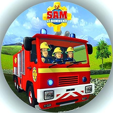 Fondant Tortenaufleger Tortenbild Geburtstag Feuerwehrmann Sam T15