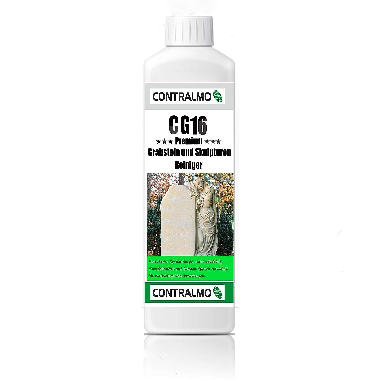 Contralmo CG16 1 Liter Grabstein und Naturstein-Reiniger Grabsteinreiniger auch fü r Marmor im Innen- und Aussenbereich
