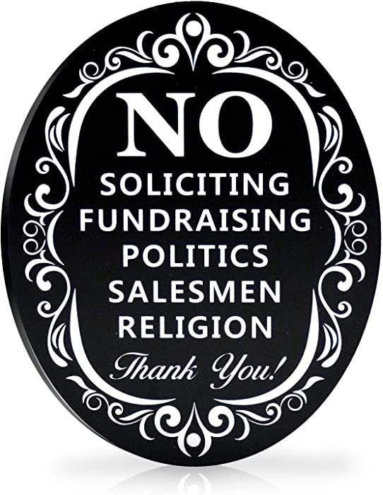 The Best No Solicitation Sign For Home
