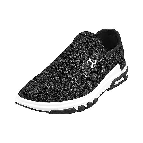 Mochi Men's Black Running Shoes-9 UK