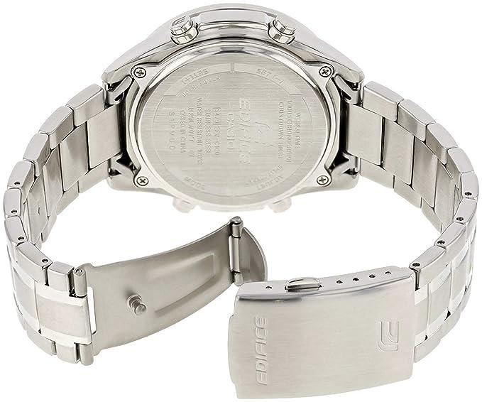 EDIFICE Reloj Analógico-Digital para Hombre de Cuarzo con Correa en Acero Inoxidable EFV-C100D-1BVEF: Amazon.es: Relojes