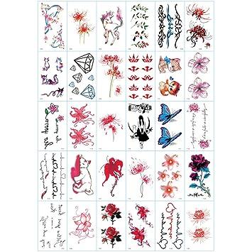 Pequeñas pegatinas de tatuaje frescas flores de tatuaje hombres y ...