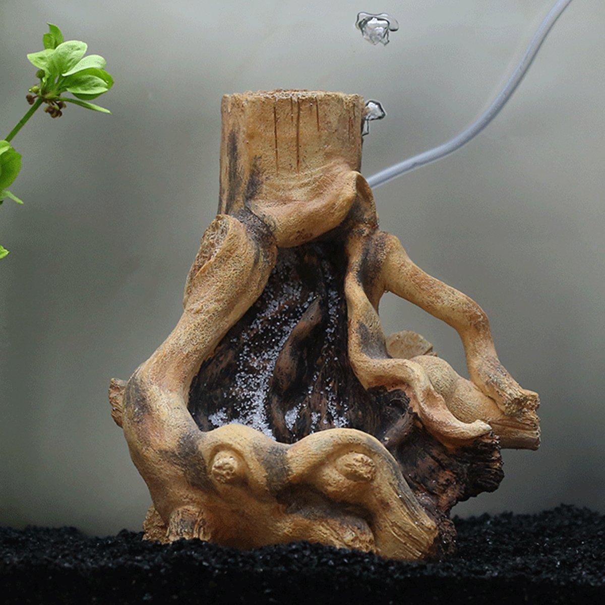 Saim Resin Stylish Driftwood Aquarium Fish Tank Terrarium Tree Root Plant Wood Decoration Quick Sand Landscape Ornament by Saim