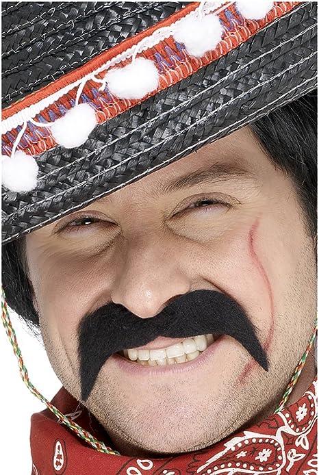 SmiffyS 11911 Bigote De Bandido Mexicano, Autoadhesivo, Negro ...