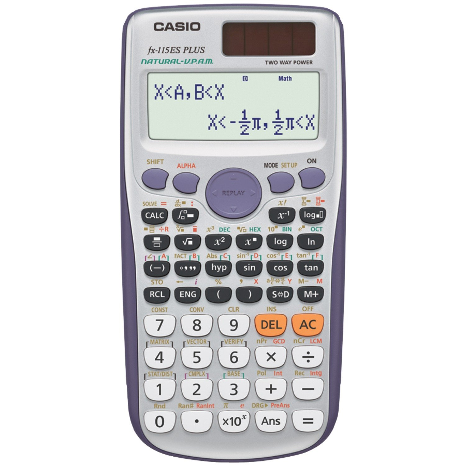 Amazon.com : Casio fx-115ES PLUS Engineering/Scientific Calculator ...
