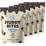 Muddy Bites Chocolate Filled Bite Size Waffle Cone Snack (Dark Chocolate, 5 Bags)
