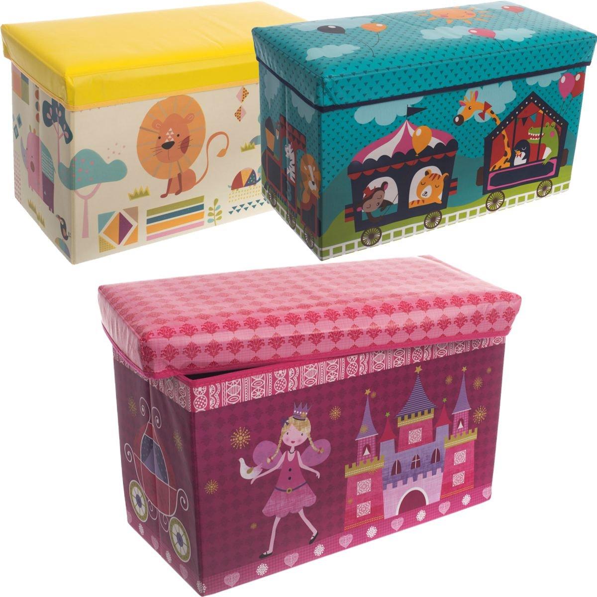 Cassapanca/cesta per giocattoli, 60 x 30 x 35 cm (CIRCO) Stimo24