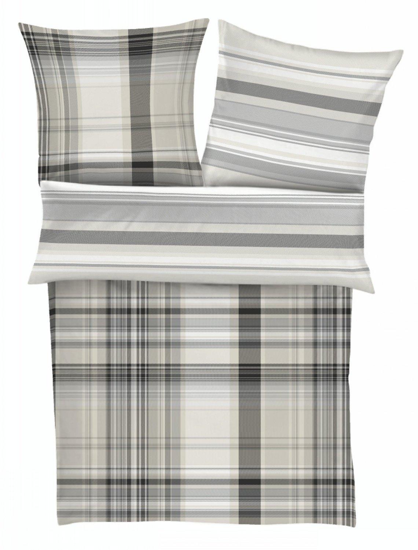 Satinbettwäsche bugatti, grau beige - 135 x 200 cm