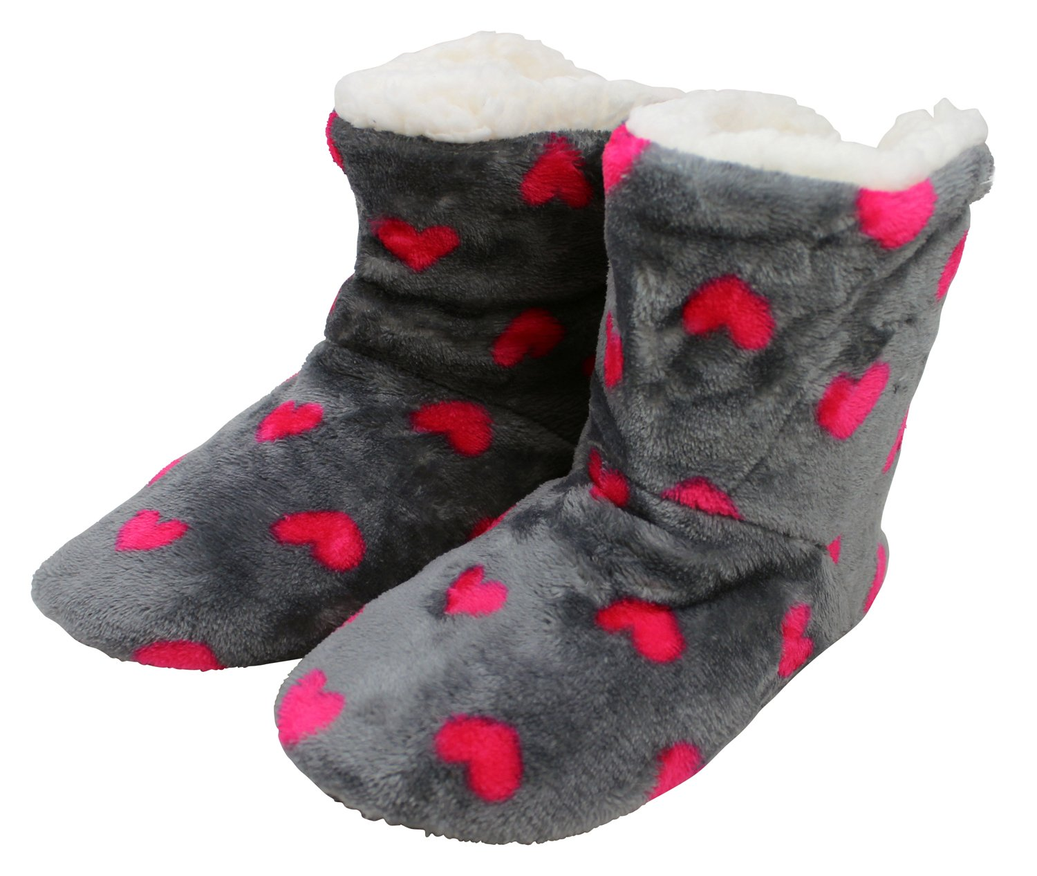 Enimay Women's Slipper Boots Lounge House Relaxed Shoes Hearts Stars Polka Dots