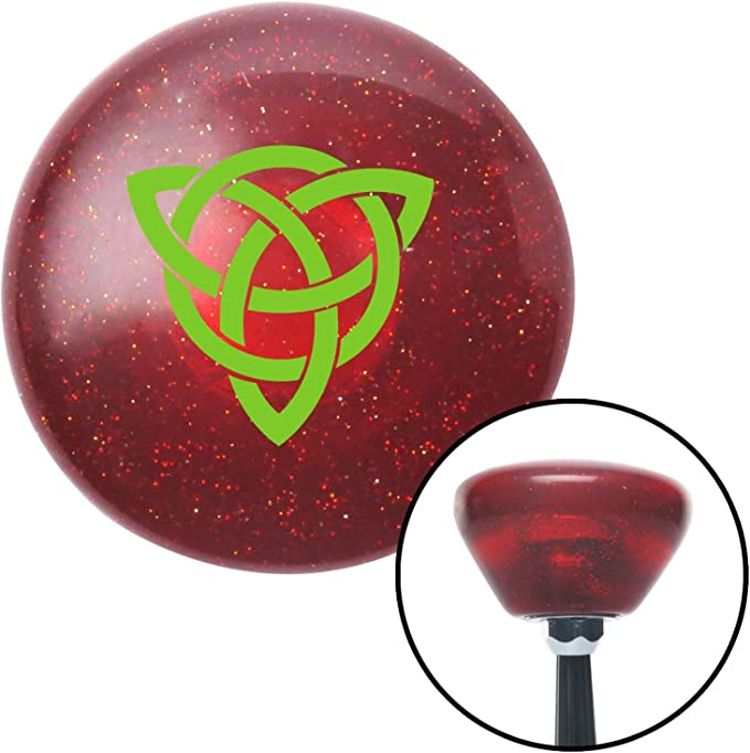 White Celtic Design #3 American Shifter 264475 Green Flame Metal Flake Shift Knob with M16 x 1.5 Insert
