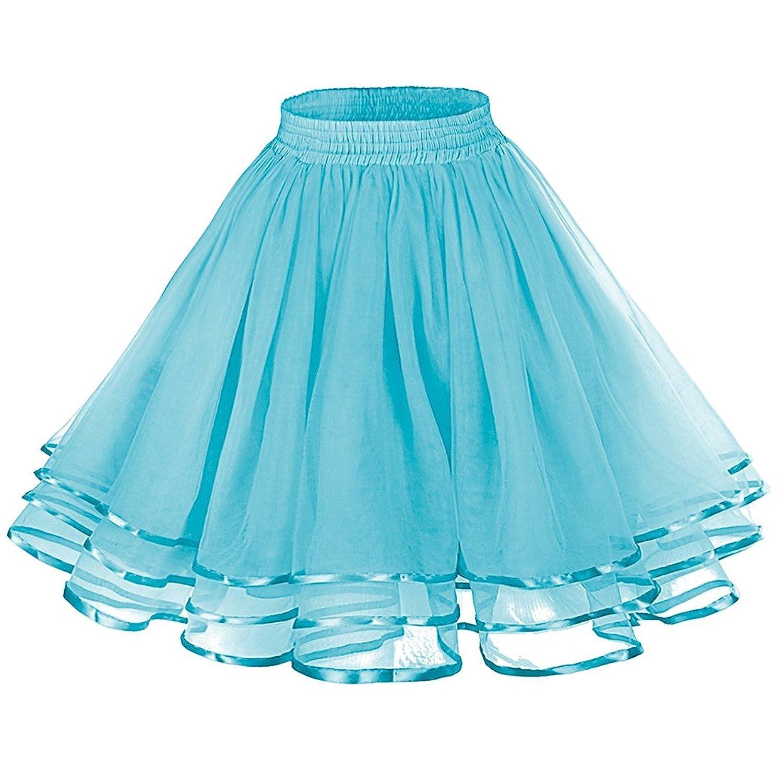 Wishopping Women Vintage Petticoat Tutu Underskirt Crinoline Dance Slip WP21